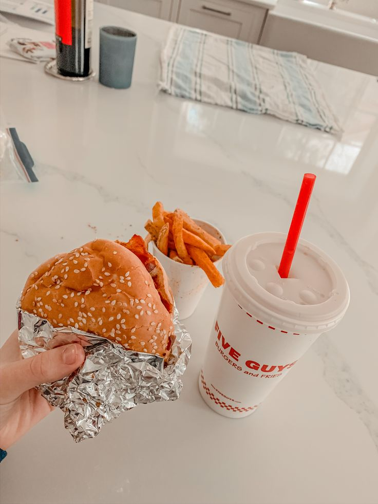 Aesthetic five guys meal in 2020 bacon burger five guys