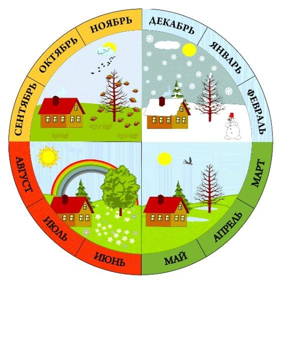 Изучаем календарь: времена года и месяцы.