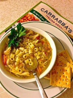 THE absolute BEST Chicken Noodle Soup...Mama Mandola's Sicilian Chicken Soup from Carrabbas