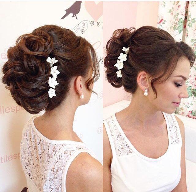 Soft bun, messy bun, textures updo, wedding hairstyles