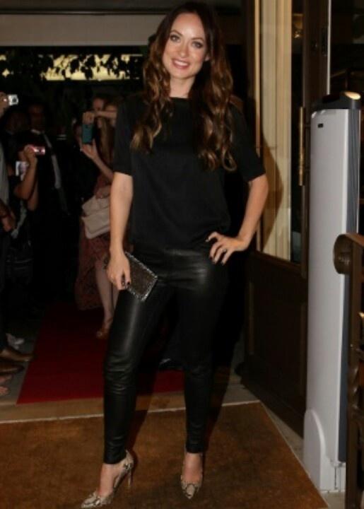 Olivia Wilde | ♥Style it... Leather pants♥ | Pinterest ...