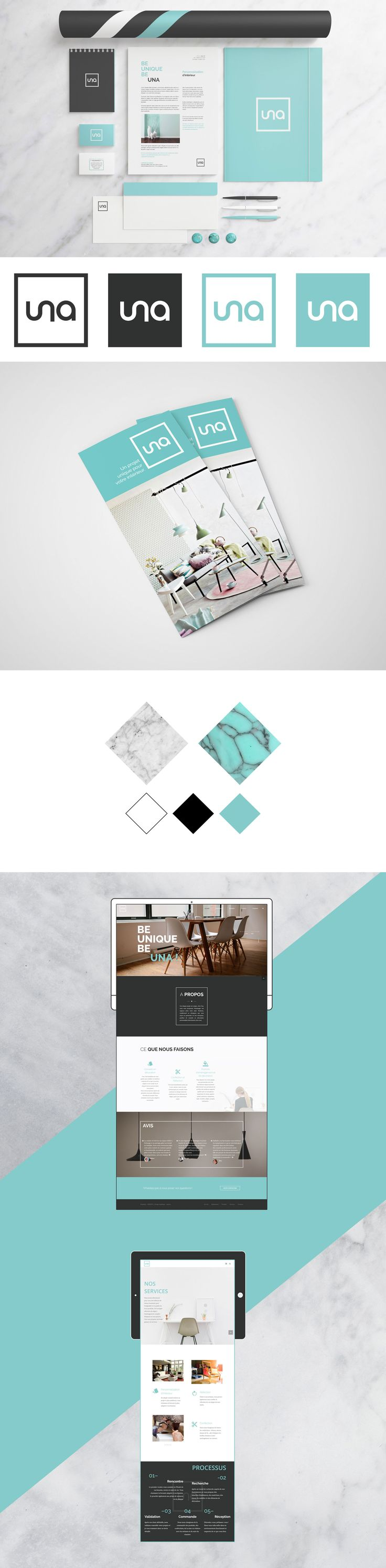 Logo, branding & website for Una, a french interior designer.