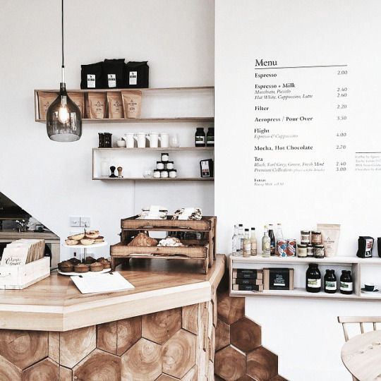 The Minimalist Post The use of Natural wood in this coffee house