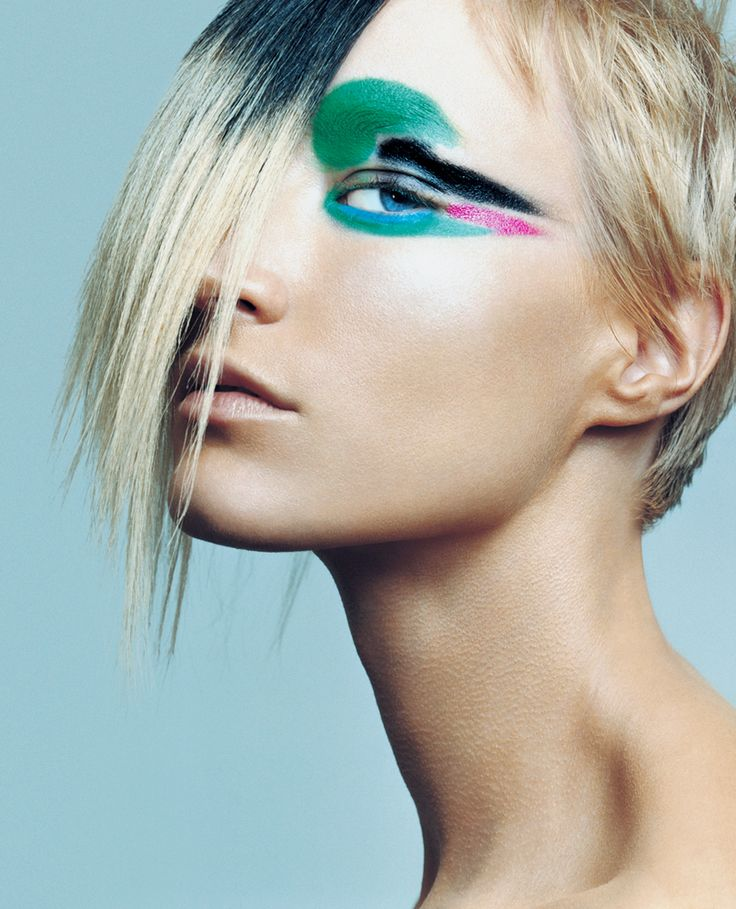 Avant Garde Eye Makeup | ... colorful avant garde hair and makeup and dark, gothic couture looks
