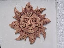 Výsledek obrázku pro slunce měsíc reliéf keramika