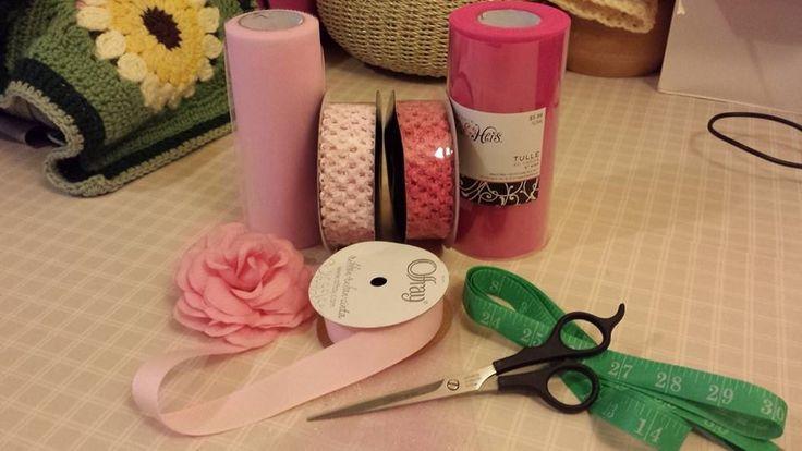 supplies for no sew tutu free tutorial jen lester happy heart fiber art.jpg