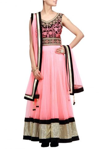 Pinkish peach anarkali suit with embroidered yoke – Panache Haute Couture http://panachehautecouture.co.in/collections/mughal/products/pinkish-peach-anarkali-suit-with-embroidered-yoke
