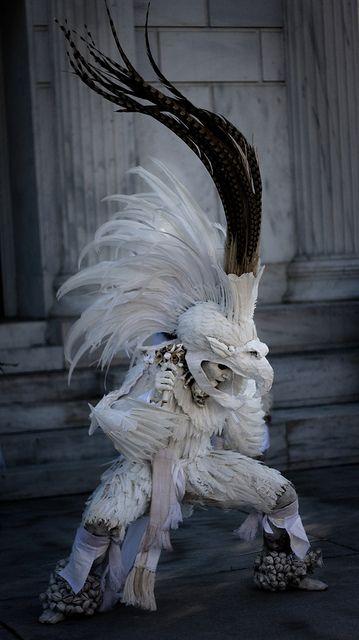 Aztec dancer, Day of the Dead celebration