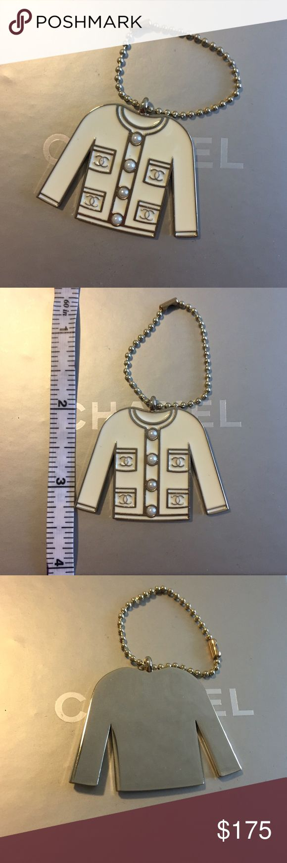 Authentic NEW Chanel cardigan keychain 💥Temporary Price Drop💥Brand new and never used Chanel keychain. The most darling little cream enamel and silver tone classic cardigan or jacket with CC pockets and pearl buttons. On a ball chain. In pristine condition. Perfect to hold you keys together, accessorize on your Chanel bag, or even worn as a charm on a chain. CHANEL Accessories Key & Card Holders