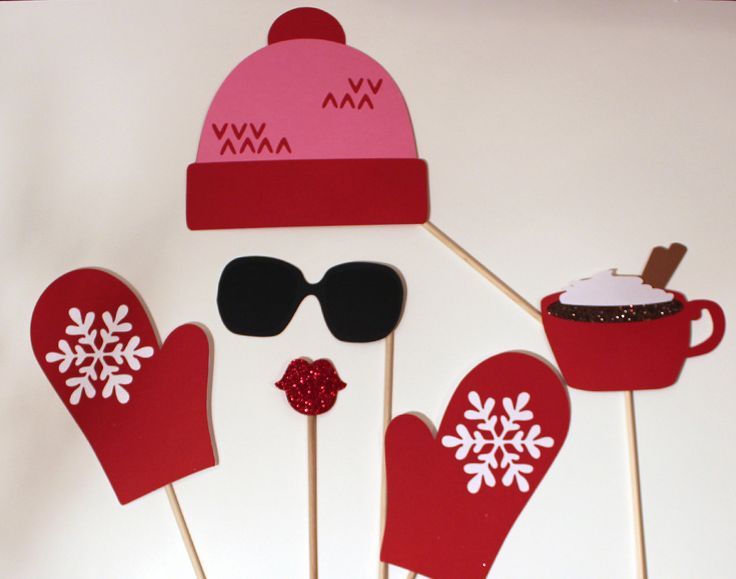 Winter Photo Booth Props  Adorable Ski Hat and by PAPERandPANCAKES, $20.00