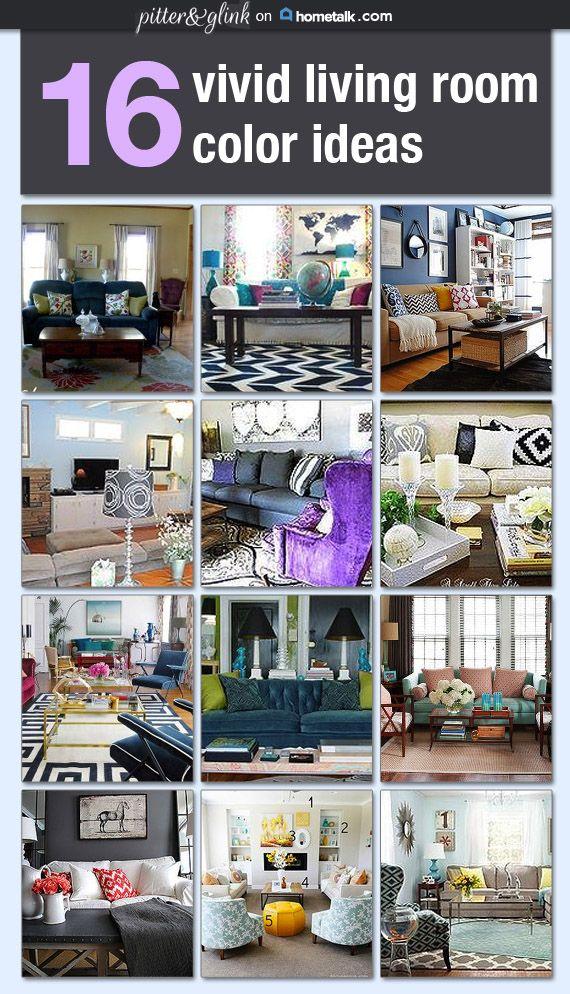 16 Vivid Living Room Color Ideas On Hometalk Via Pitterandglink