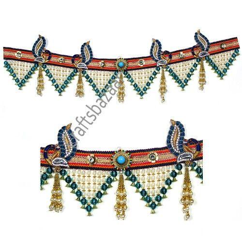 Peacock bandhanwar using beads n crystals
