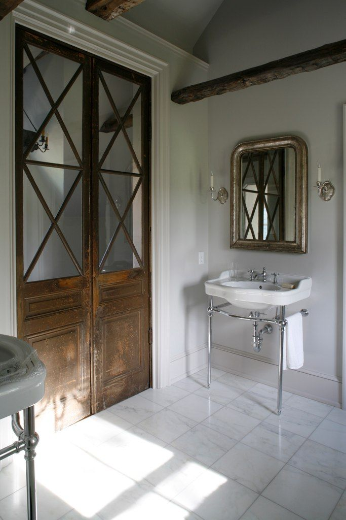 Vintage european bathroom bath pinterest french for European french doors