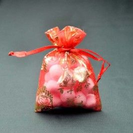 "Chinese ""happiness"" favor bag"