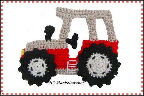 Handcrocheted tractor