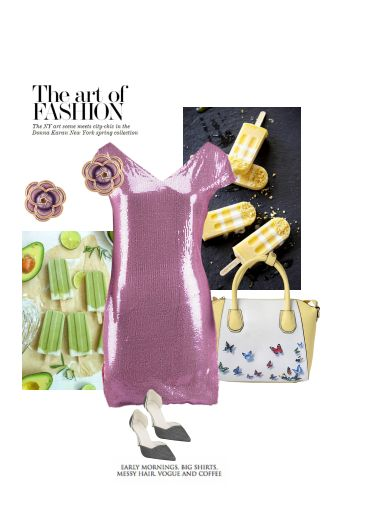'The art of fashion' by me on Limeroad featuring Non Precious Purple Earrings, Pink Dresses with Green Pumps