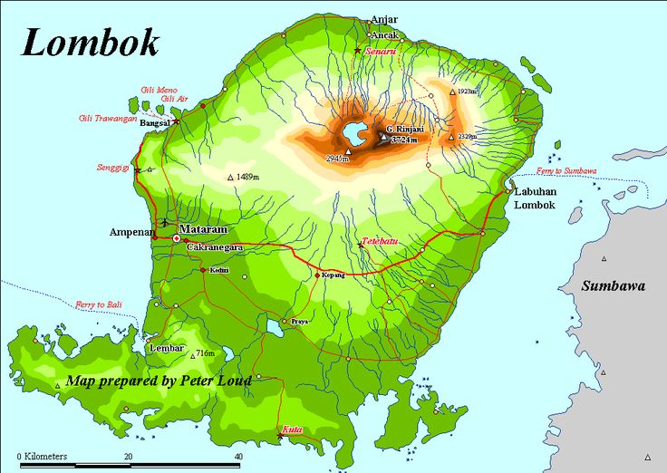 Map of Lombok INDONESIA.  LOCATED in east of Bali and the new destination for tourist who want to find out many activity.