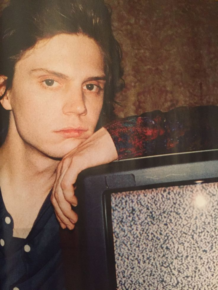 I really like this particular photo of Evan Peters.