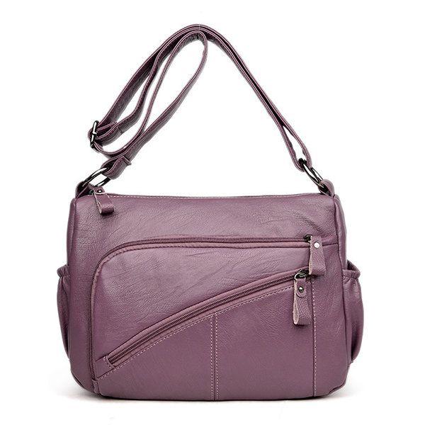 Ekphero Women Elegant Multi-pockets Shoulder Bags Daily Crossbody Bag