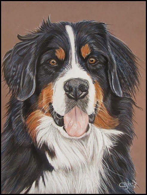 Les 25 meilleures id es de la cat gorie peintures de chien sur pinterest art th me chien - Dessin d un chien ...