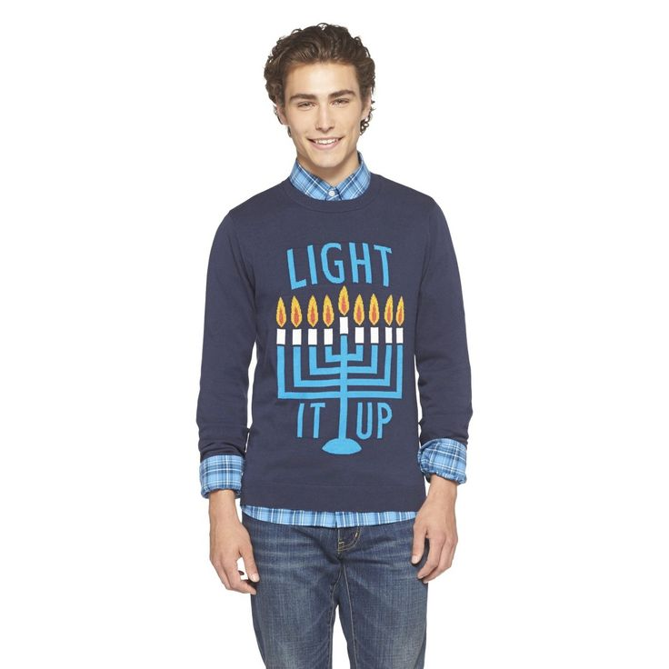 Mossimo Supply Co. Men's Ugly Hannukkah Sweater - Blue