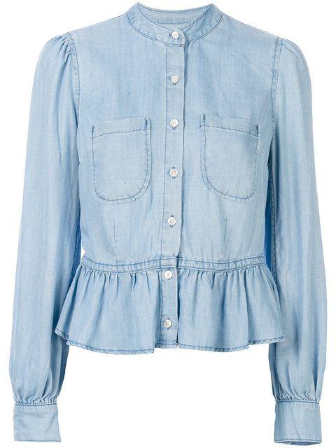 FRAME Denim Rowan Peplum Shirt. #frame #cloth #shirt