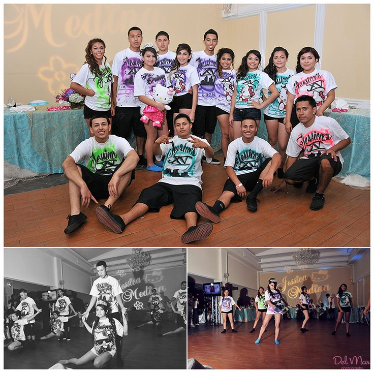 Fun Keepsake T-shirts For Pictures With Damas And Chambelanes Photo Credit Del Mar Photography ...