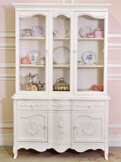 Gorgeous Shabby Chic China Cabinet