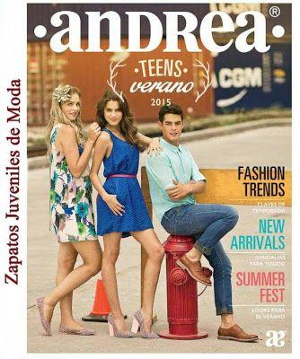 Catalogo de Zapatos Andrea Teens Verano 2015