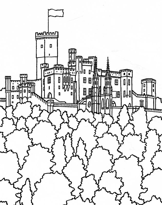 Schloss Stolzenfels Rheinland Pfalz Germany Coloring Pages For Adults