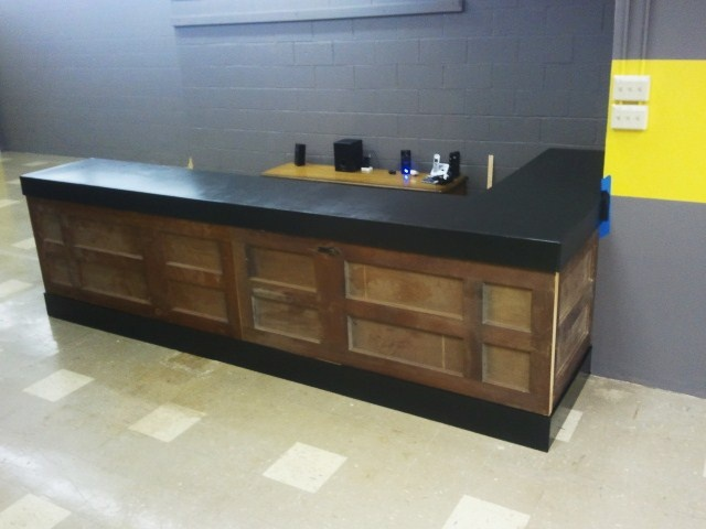 how to make a bar counter