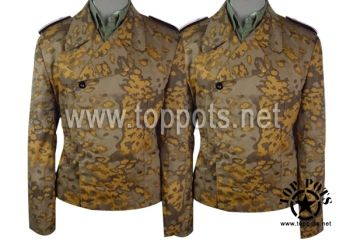 Reproduction WWII German Waffen SS M1940 Uniform Autumn Oakleaf A Camouflage Panzer Wrap Tunic World War 2 Two WW2 sale clothing cheap sale reenacting reenactment reenactor airsoft jacket