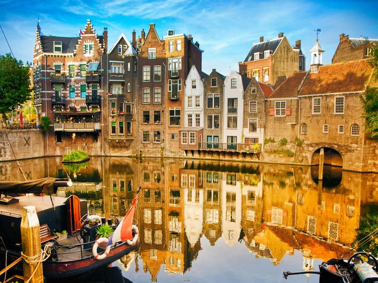 Delfshaven Rotterdam, The Netherlands outdoor Canal Town waterway City cityscape human settlement tourism River reflection autumn