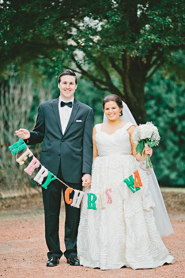 a very cute idea for your first married Christmas card! | Amy Arrington #wedding