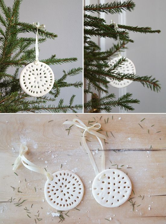Make White Clay Cutout Christmas Ornaments One Version For Kids To Paint And More Grown Up With 2 Ings You Definitely Have A