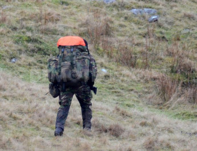 The Special Air Service SAS train on the Brecon Beacons