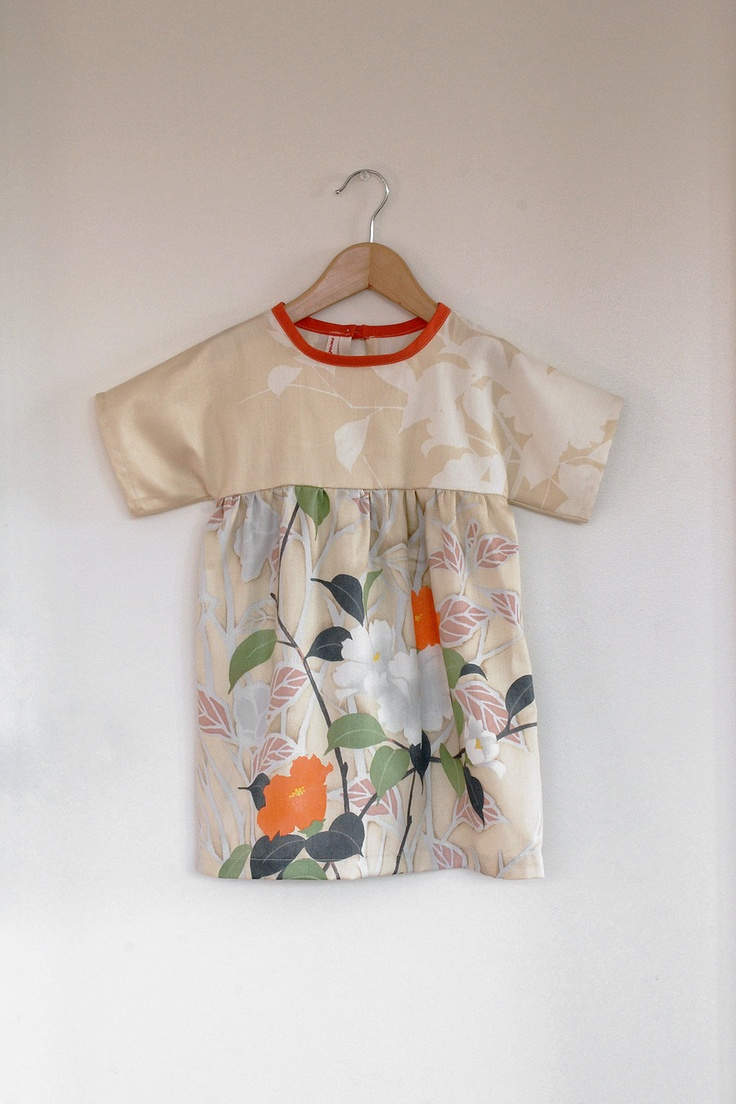 floral cotton sateen dress / tunic by SwallowsReturn on Etsy x
