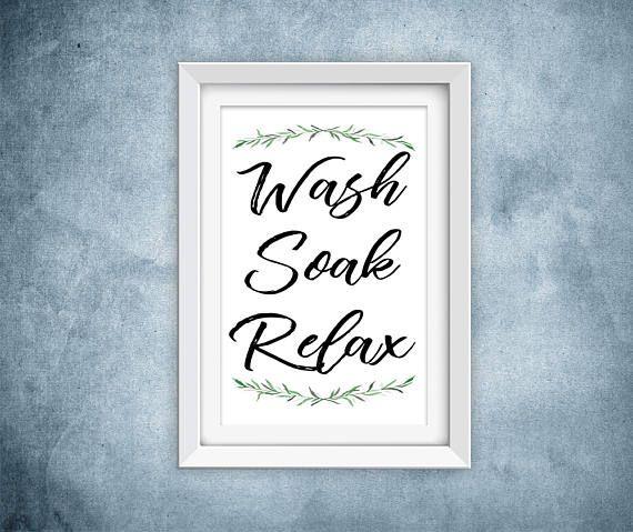 Wash Soak Relax Printable
