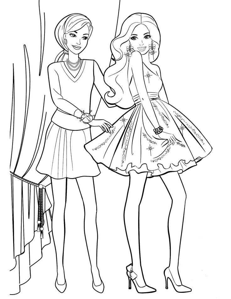 awesome barbie printable coloring pages for kids girls and boys - Barbie Coloring Page