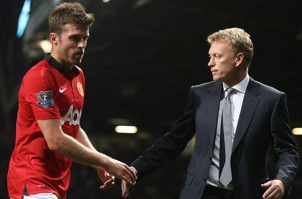 Michael Carrick and David Moyes
