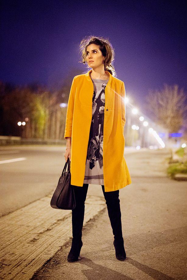 H&M coat, Zara dress, Dolce & Gabbana boots, snob. bag www.cloudnumber9.ro