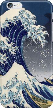 Great Wave: Kanagawa Night iPhone Case - Available Here: http://www.redbubble.com/people/rapplatt/works/13034188-great-wave-kanagawa-night?p=iphone-case
