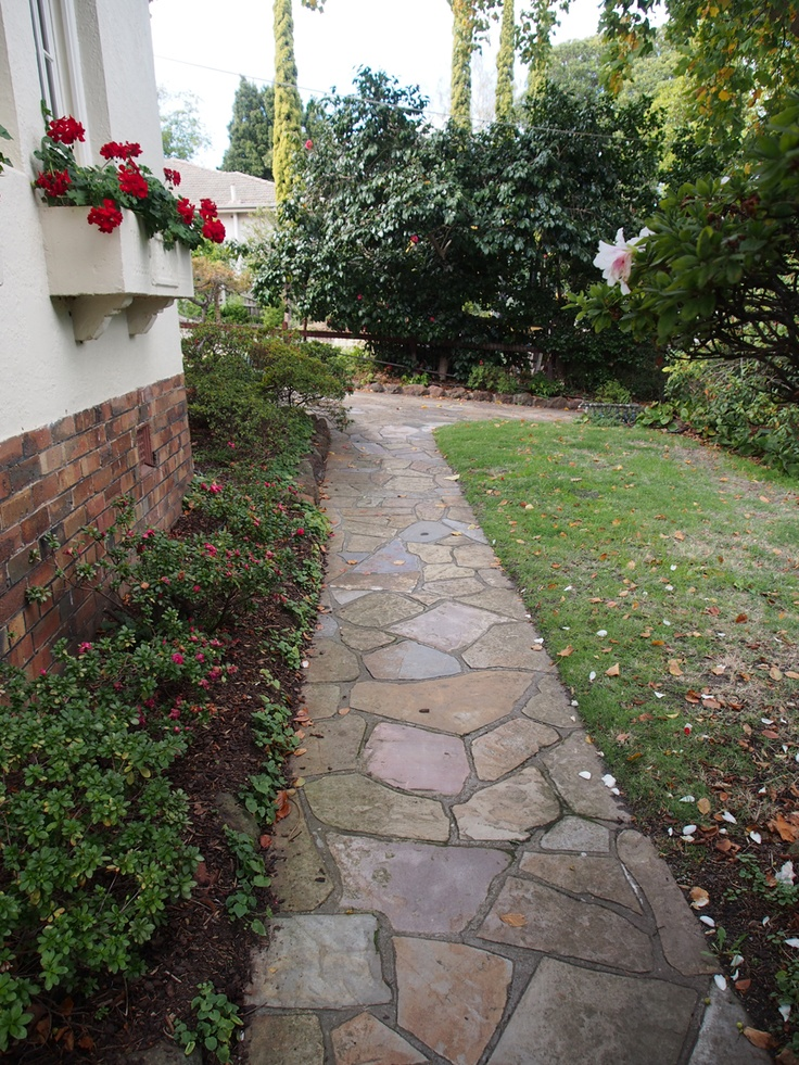 Using #random #crazy #stone for a pathway contributes aesthetically to this project.