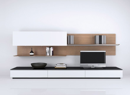 BB Italia - Shelving, Sideboards, Wall System (living room)