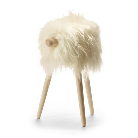 Tuft Povl Kjer, bar chair in ashtree with sheep wool