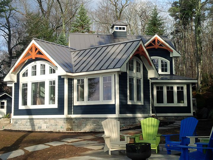 1st Place Residential Steel Roofing Agway Metals Inc Mortimers Point Bala On Farmhouse Exterior Colors House Exterior Blue Metal Roof Houses