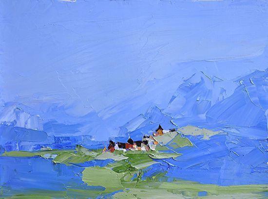 Blue Mountains by Sandra Pratt Oil ~ 12 x 16