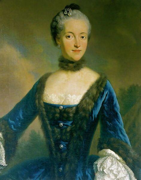 Prinzessin Maria Josepha Antonia von Bayern (1739—1767), Tochter von Kurfürst Karl VII. von Bayern (d.h. von Kaiser Karl VI HRR) und Erzherzogin Maria Amalia von Österreich (Tochter von Kaiser Joseph HRR). Zweite Frau von Kaiser Joseph II. HRR.