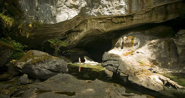 Huson Caves near Nimpkish Lake, Campbell River, BC. Caving - Vancouver Island Outdoor Guide