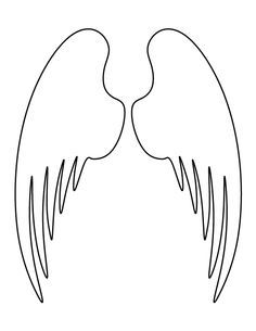 Clean image intended for angel wing templates printable